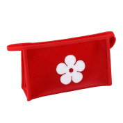 Waterproof Daisy Storage Bags Travel Phone Card Makeup Bag Organiser Pouch Purse Red