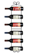 ESYLIFE Wall Mounted Wine Towel Rack, 6 Bottles, Upgrade Style