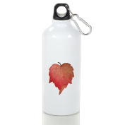 Look Mi Red Heart Autumn Leave Fashion Aluminium Sports Water Bottle Kettle Cup Suitable For Men Women
