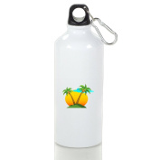 Look Mi Palms And Sun Leisure Aluminium Sports Water Bottle Kettle Cup Suitable For Men Women