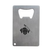 Veterinary Bottle Opener, Stainless Steel Credit Card Size, Bottle Opener For Your Wallet, Credit Card Size Bottle Opener