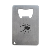 Tarantula Bottle Opener, Stainless Steel Credit Card Size, Bottle Opener For Your Wallet, Credit Card Size Bottle Opener