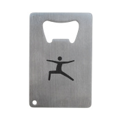 Yoga Warrior Pose Bottle Opener, Stainless Steel Credit Card Size, Bottle Opener For Your Wallet, Credit Card Size Bottle Opener