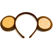 Brown Monkey Ears Aliceband Fancy Dress Hair Accessories World Book Day