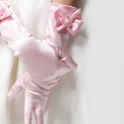 EQLEF® Bowknot Long Gloves For Girls 4-6 Years Old -Pink