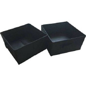 Mainstays Half-Size Collapsible Storage Bins - Set of 2