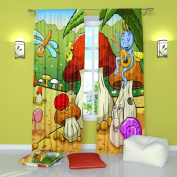 """Curtains for Kids Room. Party - W84"""" x L84"""" Curtain Panel (Set of 2), Polyester. Window Treatment Drapes for Bedroom"""