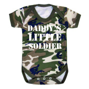 Daddy's little soldier funny Camo baby Vest Baby grow bodysuit Camouflage