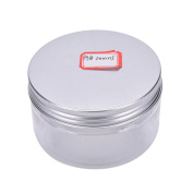 1 Pcs Aluminium Tin Jars,Cosmetic Sample Tins Empty Container, Round Pot Screw Cap Lid, Small Ounce for Lip Balm,Make Up,Eye Shadow,Powder,Gems,Beads,Jewellery,200ml by Team-Management