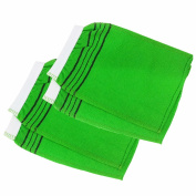 Body Wash Glove 2pcs - Exfoliating Shower Towel (Green) -Made in Korea