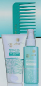 Orlando Pita Moroccan Argan Oil Therapy Collection Set, Hair Treatment Mask 4 FL and Heat Protecting Spray 4 FL + GIFT