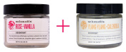 Schmidt's Natural Deodorant, Deodorant, Rose + Vanilla, 60ml AND Schmidt's Natural Deodorant, Ylang-Ylang + Calendula, 60ml - BUNDLE