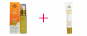 Sibu Beauty, Sea Buckthorn Oil Hydrating Serum, 30ml AND Sibu Beauty, Sea Berry Therapy, Age Defying Eye Cream, Sea Buckthorn Oil, T7, 15ml - BUNDLE