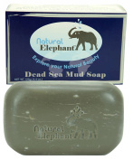 Natural Elephant Dead Sea Mud Soap Bar 130ml Facial Treatment for All Skin Types Enriched with Minerals from the Dead Sea, 125 g