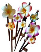 Relaxus Bamboo Bodhi Hair Sticks, Flower.