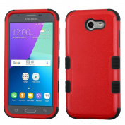 MyBat Cell Phone Case for for for for for for for Samsung Galaxy J3 - Natural Red/Black