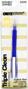 Onyx Professional 3 in 1 Cuticle Tool - Cuticle Pusher, Cutter & Stone Nail File