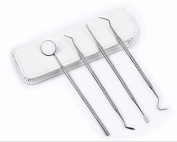 Toptheway Dental Hygiene Tool Kit Perfect For Personal Oral Hygiene & Care - 4 Pieces Include Dental Mirror, Dental Scaler, Tartar Scraper and Dental Tooth Pick