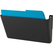 1InTheHome Single Pocket Black Wall File, Letter Size