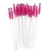 Hatop 50pcs Disposble Eyelash Brush Mascara Wands Makeup Cosmetic Tool