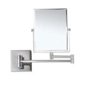 Glimmer Nameeks AR7721-CR-3x Wall Mounted Makeup Mirror, 13cm L x 16cm W