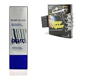 Barc Bump Down Razor Bump Relief, Alcohol-Free, Unscented Lotion, 50ml + Bump Fighter for Men Disposable Razors 4 Ct + Makeup Blender