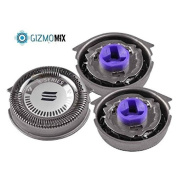 GizmomixTM 3pc Replacement Shaver Heads cutters for Philips Norelco SensoTouch RQ32 RQ11,YS522 XA525 Series