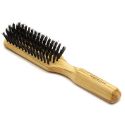Fendrihan Genuine 100% Boar Bristle 5-Row Hairbrush with Polished Olivewood Handle MADE IN GERMANY