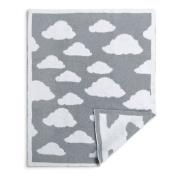 Demdaco Baby Chenille Knit Blanket, Cloud, Grey