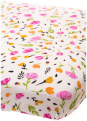Little Unicorn Cotton Muslin Fitted Sheet - Berry & Bloom, Pink, Purple