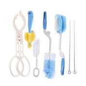 HANYUN 7-in-1 Baby Bottle Brush Cleaner Kit – Bottle Nipple Cap Brush Bottle Tongs and Straw Cleaner