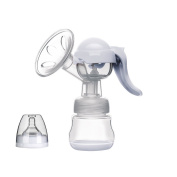 ONLIK Manual Breastpump with Lid-100% Food Grade BPA Free FDA Silicone Breastfeeding Pump, Hands Free Milk Collector Milk Saver To Catch Leaking, Fits All Breast Sizes Easy to Use