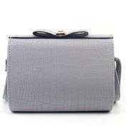 Aritone Women Fashion Croco Bow Handbag Shoulder Bag Large Tote Ladies Purse