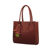 Aritone Fashion Girls Handbags Leather Shoulder Bag Candy Colour Flowers Totes