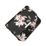 Aritone Women Floral leather Shoulder Bag Satchel Handbag Retro Messenger Bag