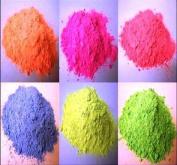 6 X 250GM Powder Paint Refill / Bags - 6 Fluorescent colours