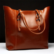 Vintage fashion PU leather Genuine ncient ways oil wax leather Soft Leather Tote Shoulder Bag Leather Satchel Briefcase Handbag Hand Bag Bags Purse Tablet, iPad Bag