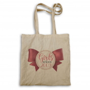 Girls Are Born In 2009 Cute Bow Novelty Tote bag ll50r