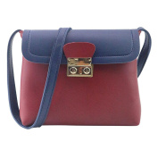 Xjp Casual PU Leather Shoulder Bag Crossbody with Lock Latch