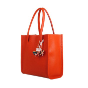 Women's Handbag , Xjp Fashionable Leather Single Shoulder Bag Tote Bag Orange