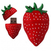 Haahaha Creative Fruit Strawberry USB 2.0 Flash Drive Data Memory Stick Device-4GB