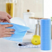 OUNONA Roll of 50pcs Disposable Nonstick Wiping Rags House Cleaning Cloth Kitchen Dish Cloths