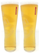 2 x Peroni Nastro Azzurro Pint Glass Toughened and Nucleated