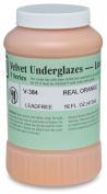 AMACO Velvet Lead-Free Non-Toxic Semi-Translucent Underglaze, 1 pt Jar, Real Orange V-384