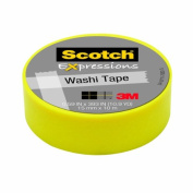 Scotch Expressions Washi Tape, .150cm x 1000cm , Yellow, 6 Rolls/Pack