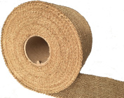 Burlapper 10cm x 30 Yards Jute Burlap Ribbon Roll, 350ml Decorator Fabric