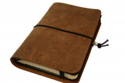 MCD Brown Leather Journal Notebook Cover with Refill