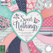 Premium Craft Cardstock First Edition 12x12 Designer Paper Pad - Sweet Nothings
