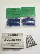 Horseshoe Nails (50 nails) & Lead & Glass Stop Blocks