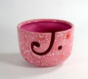 Ceramic Yarn Bowl Tall Peppermint Twist